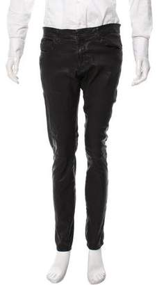 Neil Barrett Leather Skinny Pants