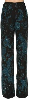 ZUHAIR MURAD Sequin & Bead Embellished Pants