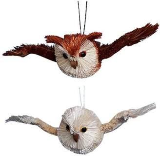 "Kurt Adler 7"" Buri Flying Owl Christmas Ornament 2 Assorted"