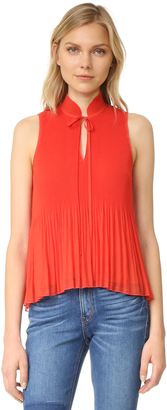 Derek Lam 10 Crosby Sleeveless Pleated Top $325 thestylecure.com