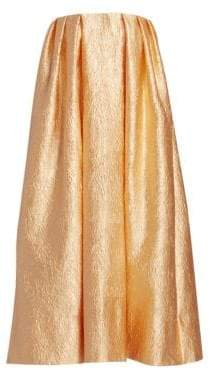 Simone Rocha Women's Strapless Foil Drape Dress - Peach - Size UK 10 (6)
