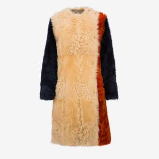 Bally Color block Shearling Coat