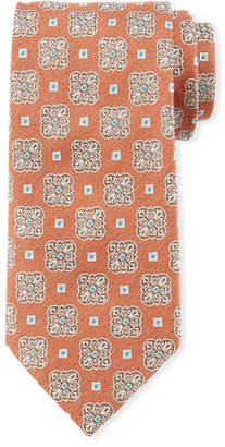 Eton Square Medallion Silk Tie