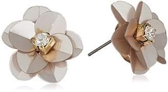 GUESS Floral La Femme Women's Sequin Button Stud Earrings