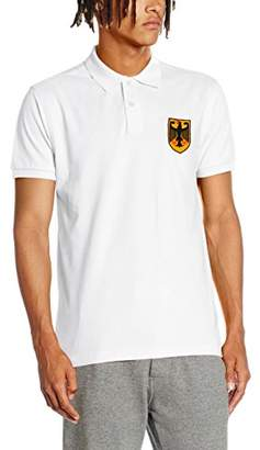 Toffs RETRO FOOTBALL Men's Germany Short Sleeve Polo Shirt
