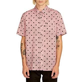Volcom Men's Crossed Up Short Sleeve Button Up Shirt