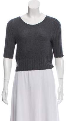 The Row Open-Knit Crop Top