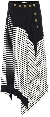 J.W.Anderson Striped wool-blend skirt