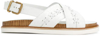 Tod's cross over strap sandals