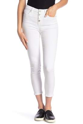 William Rast Sculpted High Rise Button Fly Skinny Jeans