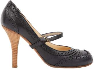 John Galliano Black Leather Heels