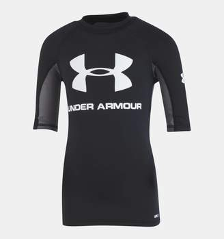Under Armour Boys' Pre-School UA Compression Rashguard Short Sleeve Shirt