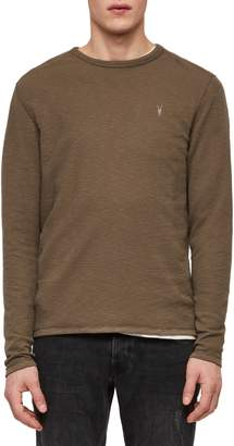 AllSaints Clash Crewneck Thermal T-Shirt