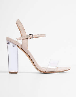 Express Lucite Heeled Sandals