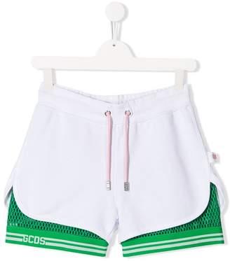 Gcds Kids TEEN mesh layer shorts
