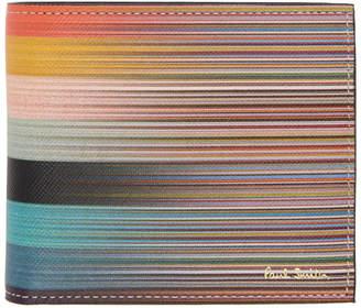 Paul Smith Multicolor Stripe Bifold Wallet