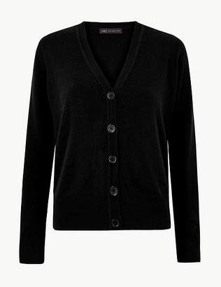 Marks and Spencer Textured Button Detailed Cardigan