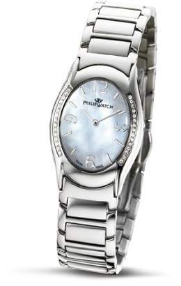 Mother of Pearl Philip Watch Philip Ladies Jewel Analogue Watch R8253187745 with Quartz Movement, Dial and Stainless Steel Case