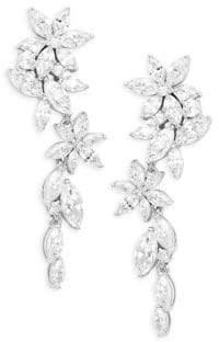 Adriana Orsini Crystal Flower Drop Earrings