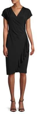 Lafayette 148 New York Side Ruffle Knee-Length Dress