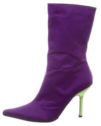 Ungaro Mid-Calf Pointed-Toe Boots