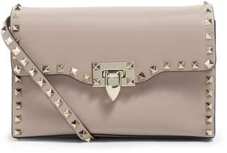 Valentino Small Leather Rockstud Cross Body Bag