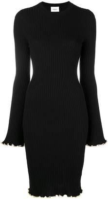 Dondup frill trim knitted dress
