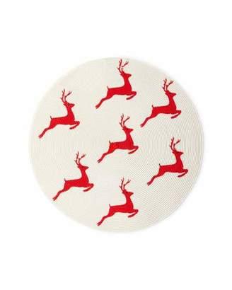 Deborah Rhodes Painted Reindeer Placemat