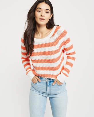 Abercrombie & Fitch Cable Pointelle Boat neck Sweater