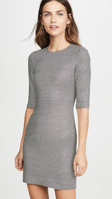 Alice + Olivia Delora Crew Neck Fitted Short Dress