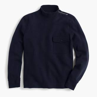 J.Crew Wallace & Barnes felted merino mock neck pullover