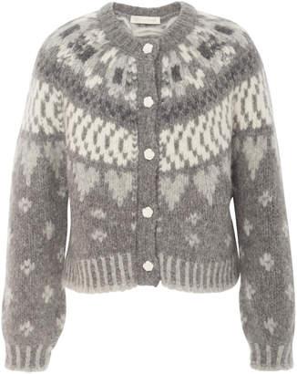 LoveShackFancy Jamie Button Front Sweater