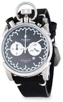 CT Scuderia Corsa Cafe Racer Stainless Steel& Leather Strap Watch