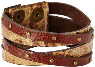 Leather Rock B453 Bracelet