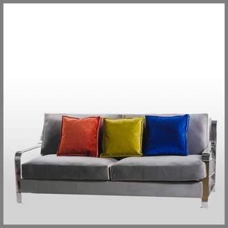 Horgans Nasya Grey Velvet Sofa