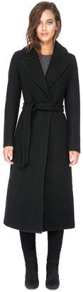 Soia & Kyo MARLENE maxi length wool coat with notch collar