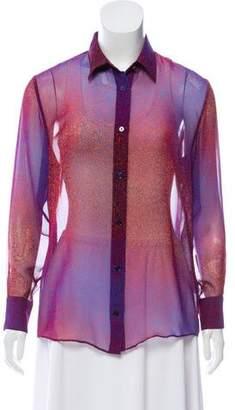 Acne Studios Printed Button Up Shirt