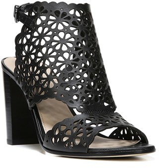 Women's Via Spiga Garnet Perforated Ankle Strap Sandal $195 thestylecure.com