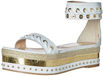 Just Cavalli Women's Calf Leather with Mirror and Rope Mule