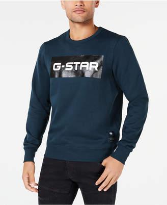 G Star Men Swando Block Logo Crew-Neck Fleece