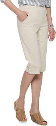 Croft & Barrow Petites The Classic Pull-On Snap Hem Capri Pants
