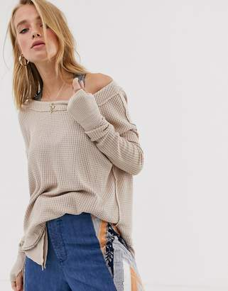 We The Free By Free People by Free People waffle layered tunic