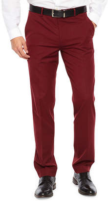 Jf J.Ferrar Bright Burgundy Stretch Slim Fit Suit Pants