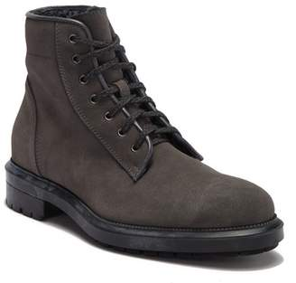 Aquatalia Turner Suede Genuine Shearling Lined Boot