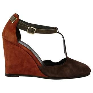 Tila March Camel Suede Sandals