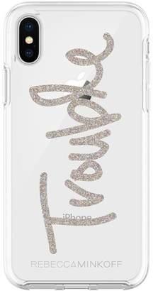 Rebecca Minkoff Trouble Glitter Case For Iphone Xs Iphone X