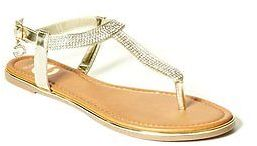 GByGUESS G By Guess Women's Helen T-Strap Sandals $29.99 thestylecure.com