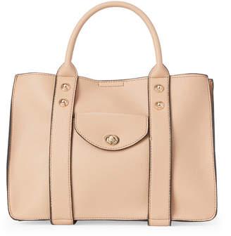 Moda Luxe Camel Rockefeller Faux Leather Satchel