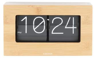 Karlsson Boxed Flip Bamboo Table Clock
