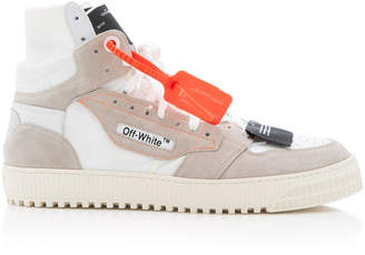 Off-White 3.0 Off Court Suede-Trimmed Leather Sneakers